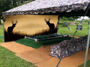 Deer Backdrop Setup