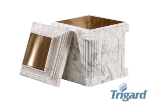 Chesapeake Burial Vault Company, Inc. - Burial Vaults - Aegean Elite White Marble Bronze Urn Vault
