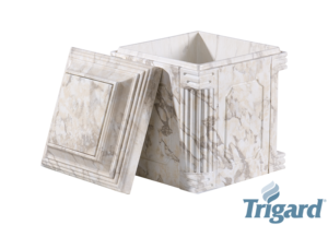 Chesapeake Burial Vault Company, Inc. - Burial Vaults - Aegean White Marble Urn Vault