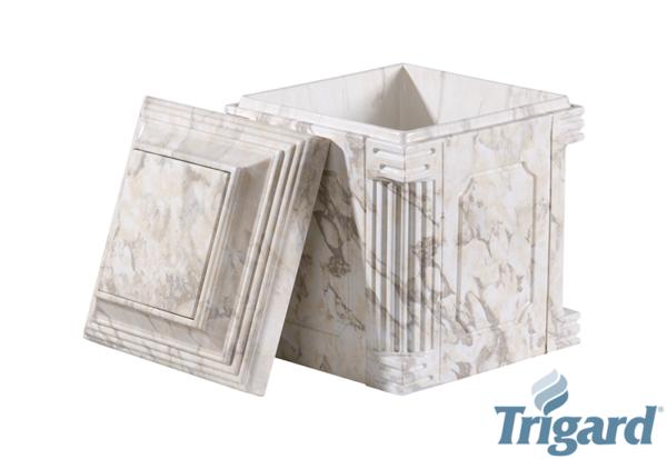 Chesapeake Burial Vault Company, Inc. - Burial Vaults - Aegean White Marble Urn Vault