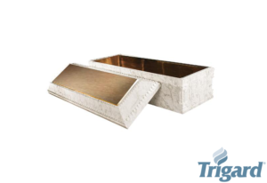 Chesapeake Burial Vault Company, Inc. - Burial Vaults - Aegean Elite - white Marble - Bronze